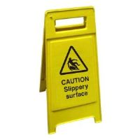A Frame Caution Slippery Surface Sign